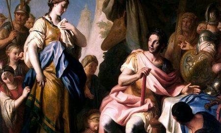 Ο Μέγας Αλέξανδρος στην Ρωξάνη, του Αριστομένη  Λαγουβάρδου